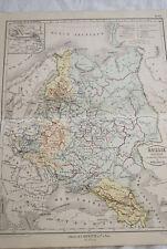 CARTE ANCIENNE COULEURS RUSSIE POLOGNE 1865 ATLAS BOUILLET R686