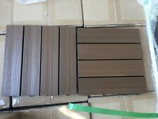 "NewTechWood Deck Tiles 12"" x 12"" - 10 pcs per box Teak Color - Free Shipping"