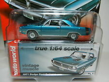 2016 AUTO WORLD 1:64 *PREMIUM 5D* TEAL 1971 Dodge Dart Swinger *NIP!*