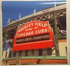 "Chicago Cubs Wrigley Field Marquee Art 24"" x 24""  Poster World Series Baseball"