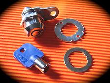 Tubular Cam Lock, 19mm- Jukebox Lock, Vending, Coin Operated