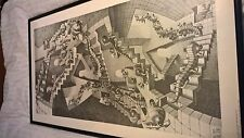 Official Cordon Art M. C. Escher large framed 90s print Holland House of Stairs