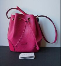 AUTHENTIC GUCCI HOT PINK LEATHER CROSS BODY BUCKET BAG