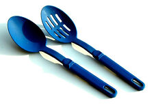 2 Piece Aronson Basting Slotted Serving Spoon Nylon Blue 11in