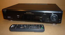 BLACK SONY VIDEO TAPE PLAYER/RECORDER VCR NICAM NTSC SLV-E720 TRI LOGIC