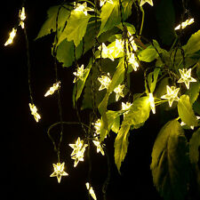 20 Star LED Solar Powered Outdoor String Lights Waterproof for Garden Party