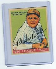 1933 GOUDEY BABE RUTH NO 181 AUTOGRAPH SIGNED ROOKIE RC REPRINT NEW YORK YANKEES