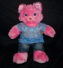 BUILD A BEAR BLUSHING BEAUTY PINK SPLATTER KITTY CAT STUFFED ANIMAL PLUSH TOY