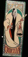 Disney Auctions 101 Dalmatians Cruella DeVil Art Nouveau Name Frame LE 1500 Pin