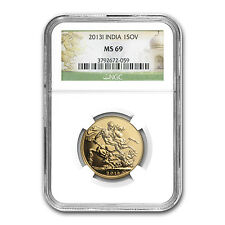 2013 India Gold Sovereign MS-69 NGC - SKU #82382
