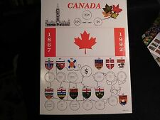 CANADA : 1867 - 1992  25 CENT SOUVENIR RECTANGULAR  FLAG    HOLDER  (#2)