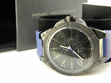Marc Anthony Watch - Men's Black Dial Blue Silicone FMDMA130 Retail $145