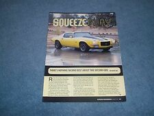 """1970 Camaro RS/SS Resto-Rod Article """"Squeeze Play"""" 502 Ram Jet"""