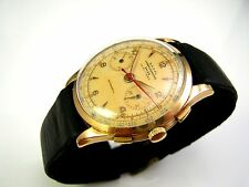 WW2 Era 18K Solid GOLD NADAL Vintage Landeron 48 CHRONOGRAPH Miliary Style Watch