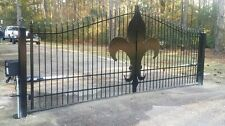Custom Built Driveway Entry Gate 14ft Wide Dual Swing. Fencing, Handrails. Beds.