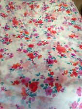 FLORAL  ITALIAN PURE SILK  CRINKLE CHIFFON DRESS FABRIC