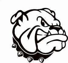 Bulldog head decal sticker scooter car van laptop window phone bumper wall