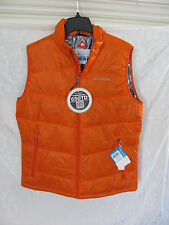 Columbia Gold 650 TurboDown Down Puffer Vest Jacket- Orange- Mens Medium - $130