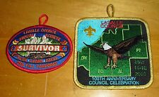 Boy Scout La Salle Council 100th Anniversary & 06 Fall Camporee Patches New !