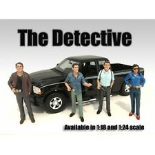 """THE DETECTIVES"" 4PC FIGURE SET 1:18 AMERICAN DIORAMA 23891,23892,23893,23894"
