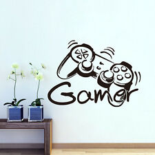 GAMER Quote Wall Decal Game Controller Removable Boys Bedroom Vinyl Sticker