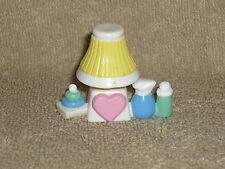 Fisher Price Loving Family Dollhouse Nursery Baby Lamp Bottles Toy