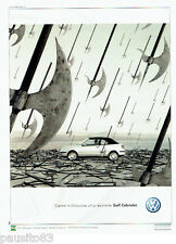 PUBLICITE ADVERTISING 016  2000  VOLKSWAGEN  la Golf cabriolet