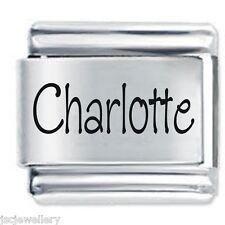 CHARLOTTE Name -9 mm Daisy Charm von JSC passt
