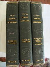 Vintage New Century Dictionary by Collier, 3 Volumes, Lot, 1936