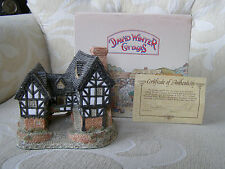 David Winter Cottage - 1981 Tudor Manor House - Box & COA - Retired  and Rare
