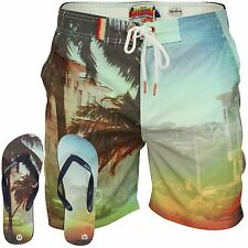 Mens Board, Surf Shorts by Tokyo Laundry with Flip Flops