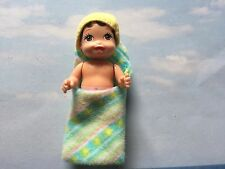 BARBIE HAPPY FAMILY NEWBORN HISPANIC ETHNIC BABY GIRL BLANKET HAT PINK DIAPER