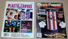 Lot of 2 Plastic Canvas Magazines, Summer & 4th of July and other Patterns