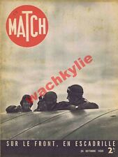 Match n°69 du 26/10/1939 ww2 aviation radio thérèse Neumann Staline