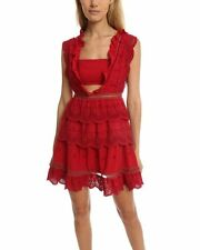 Self-Portrait Tiered Broderie-anglaise Mini Dress Brand New BNWT UK 10 IT 42 US6
