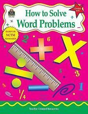 How to Solve Word Problems, Grades 6-8, Smith, Robert, 1576909611, Book, Good