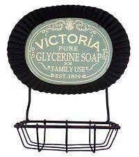 METAL WALL MOUNTED SOAP DISH BASKET BATHROOM 23CM X 20.5CM X 11CM