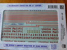 Microscale Decal HO #87-1125 Union Pacific Repainted Hood Diesels (2001+)