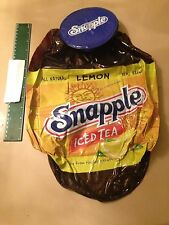 NEW SNAPPLE INFLATABLE BLOW UP LEMON ICED TEA BOTTLE PLASTIC COLLECTIBLE RARE