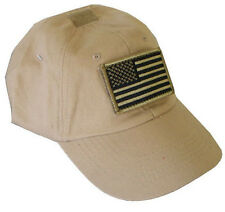 Special Force Tactical CAP HAT American US Flag - TAN