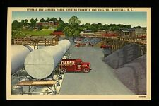Storage Loading Yard Citizens Transfer Coal Co. Asheville, NC linen postcard