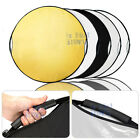 110CM 5 in 1 STUDIO PHOTOGRAPHY PHOTO COLLAPSIBLE LIGHT REFLECTOR & HANDLE GRIP!