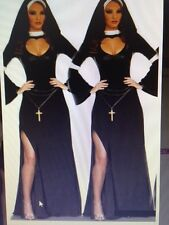 Womens Sexy Naughty NUN RELIGION VICAR Fancy Dress Costume Outfit