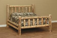 "Amish made white cedar log furniture King  rustic bed 56""**FREE SHIPPING**"