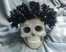 Black Flower Crown Goth Black Rose Flower Headband Halo Festival Party Rave