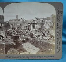 c1903 Italian Stereoview Photo Rome Forum & Capitol From Nr Basilica Constantine