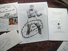 Muhammad Ali auto hand signed incredible 8x10 autograph WITH DRAWING to Richard