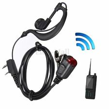 2 Pin Headset Mic Earpiece Earphone for Two Way Radio Security Walkie Talkie