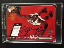 2000-01 MICHAEL JORDAN UPPER DECK MJ MATERIALS GAME USED SHOE AUTO SIGNED UDA AU