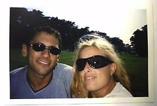 Vintage PHOTO Close Up Of A Man & A Woman Wearing Sunglasses At Park